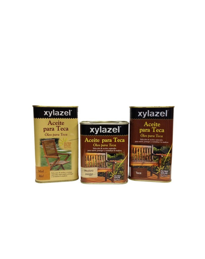 Aceite teca xylazel especial muebles de madera for Aceite para muebles de madera