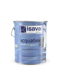 Esmalte al agua acquatex de Isaval.