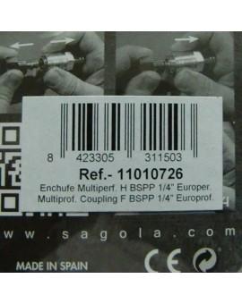 "Enchufe hembra 1/4"". Multiperfil ""Sagola"""