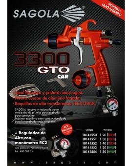 """Pistola """"Sagola"""" 3300 GTO CAR gravedad + RC2"""