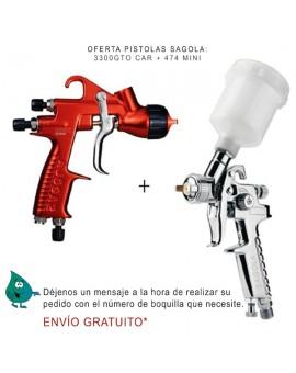 """Pistola Sagola 3300 GTO CAR + Pistola 474 """"BLACKFRIDAY"""""""