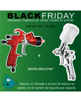 "Pistola Sagola 3300 GTO CAR + Pistola 474 ""BLACKFRIDAY"""