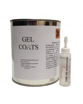 Gel Coats color blanco + Catalizador (Peróxido)