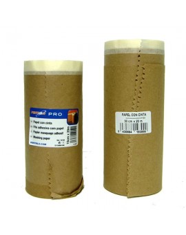 Papel para enmascarar con cinta adhesiva